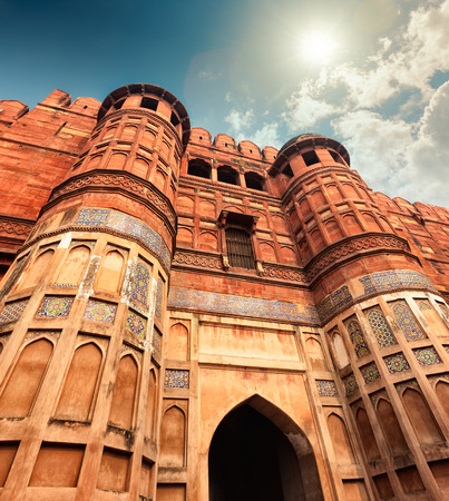 accurately: Agra Fort, is a monument, in Agra, Uttar Pradesh, India. The fort can be more accurately described as a walled city.