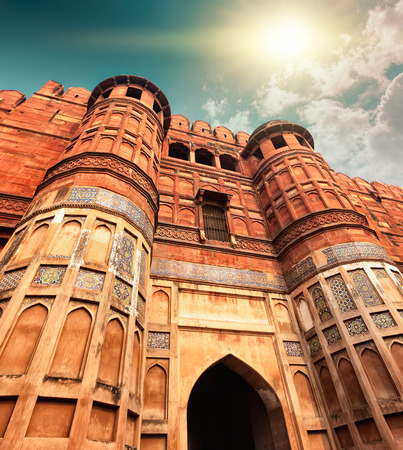 described: Agra Fort, is a monument, in Agra, Uttar Pradesh, India. The fort can be more accurately described as a walled city.