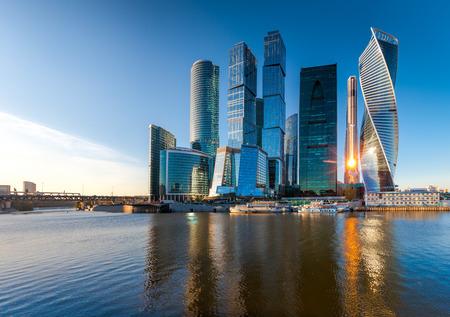 Moscow City - uitzicht op de wolkenkrabbers Moscow International Business Center.