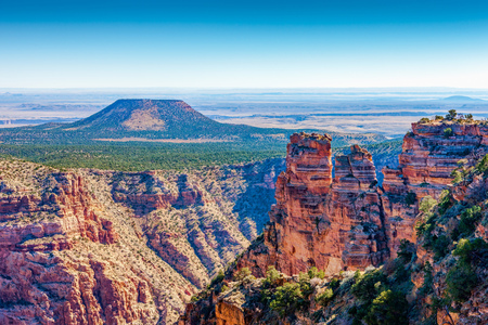 Grand Canyon, Cedar Mountain at Desert View, Arizona, USA Stock Photo