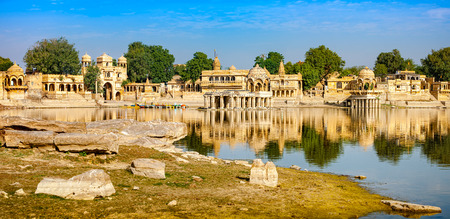 sagar: Gadi Sagar (Gadisar) Lake is one of the most important tourist attractions in Jaisalmer, Rajasthan, North India. Artistically carved temples and shrines around The Lake Gadisar Jaisalmer.