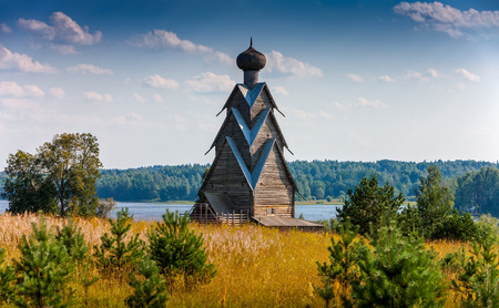 17th: The wooden church of the 17th century St. John the Baptist in the village of Shirkovo, Tver region, Russia