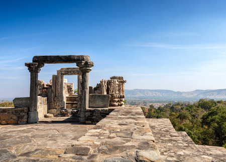 jainism: Kumbhalgarh fort, Rajasthan, India.  Kumbhalgarh is a Mewar fortress in the Rajsamand District of Rajasthan state in western India and is known world wide for its great history.