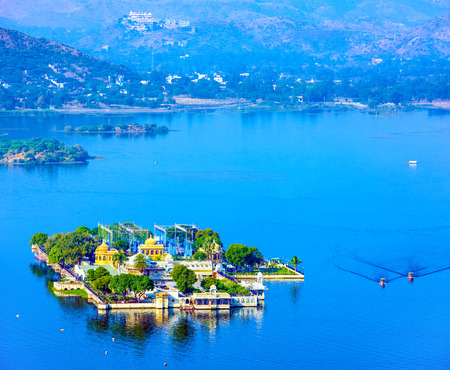Jag Mandir is a palace built on an island in the Lake Pichola. It is also called the Lake Garden Palace. The palace is located in Udaipur city in the Indian state of Rajasthan. Editorial