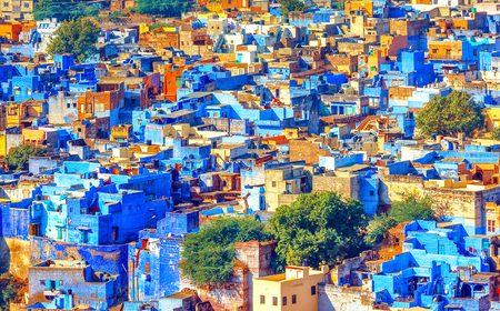 View of Jodhpur, the Blue City of Rajasthan, India Stock Photo