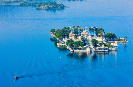 Jag Mandir Palace, Lake Pichola, Udaipur, Rajasthan, India, Asia Stock Photo