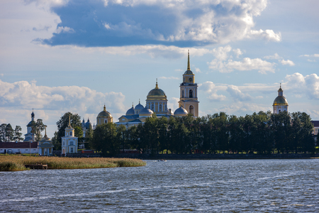 The Nilo-Stolobensky Monastery is located in the Tver Region, on Lake Seliger, Russia Stok Fotoğraf