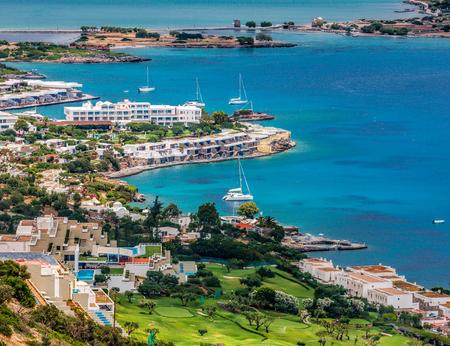 Beautiful view of Mirabello bay and Elounda, Crete, Greece