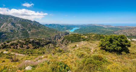 Cretan mountain landscape with Aposelemi reservoir, Crete, Greece