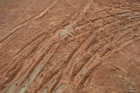 laterite mud wheel track photo