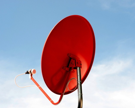 red satellite dish photo