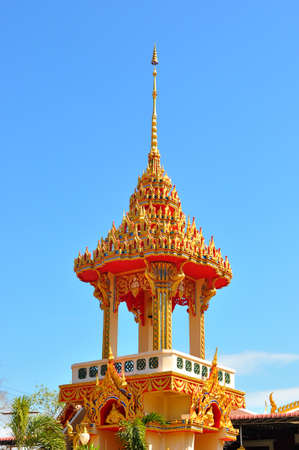 Thai style Buddhist temple, belfry