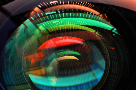 colorful lens reflection coating photo