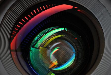 colorful lens reflection coating Stock Photo - 11861549