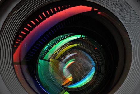 coating: colorful lens reflection coating Stock Photo
