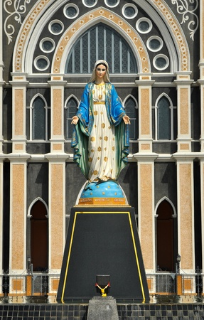st.maria monument standing front of twin dome church Stock Photo - 12115718