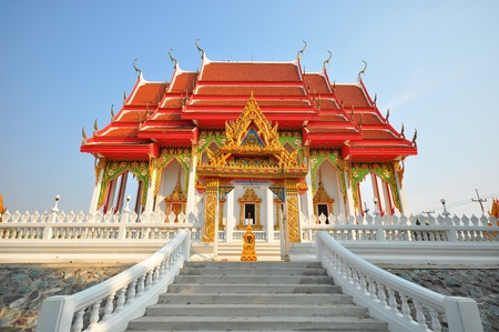 side view Thai temple photo