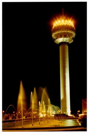 beatiful: beatiful night tower Editorial