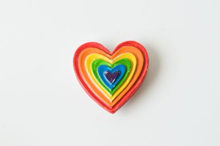 isolated colourful fridge magnet photo
