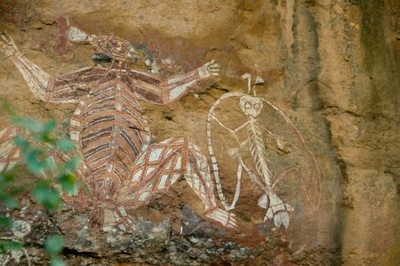 aboriginal rock art in Kakadu National park, Northern Territories, Australia photo