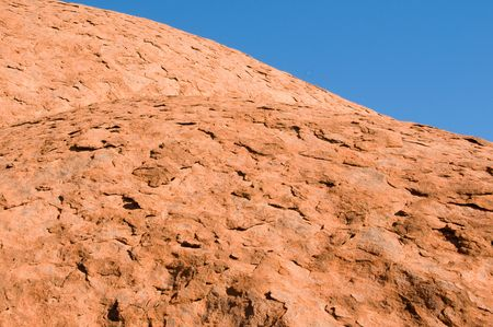 ayers: detail of the biggest rock in the world - Uluru, also known as Ayers Rock, in Central Australia Editorial