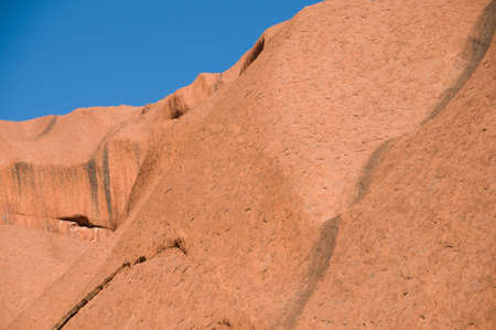 detail of the biggest rock in the world - Uluru, also known as Ayers Rock, in Central Australia