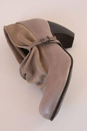 ladys: stylish beige leather ladys shoe