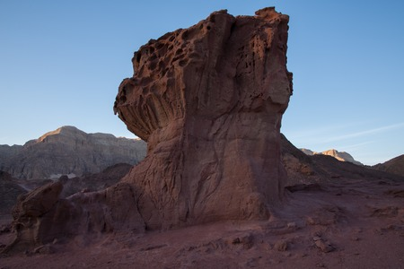 timna: View of Timna National Park at sunset Stock Photo