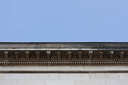 cornice: Detail of cullis cornice decoration with ornaments Stock Photo