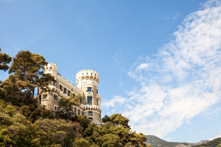Nice little castle on the hill of Cap Martin on the French Riviera, Cote dAzur, France