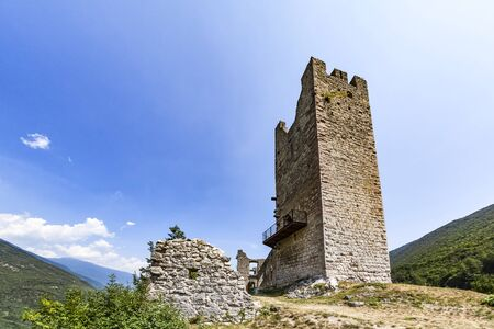 caved: Ruin Castel Belfort near Spormaggiore in Trento in Italy, Europe