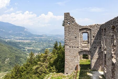 Ruin Castel Belfort near Spormaggiore in Trento in Italy, Europe