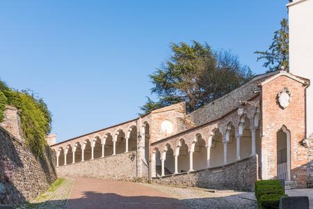 steep: Porticato del Lippomano near the Museum in Udine in Italy