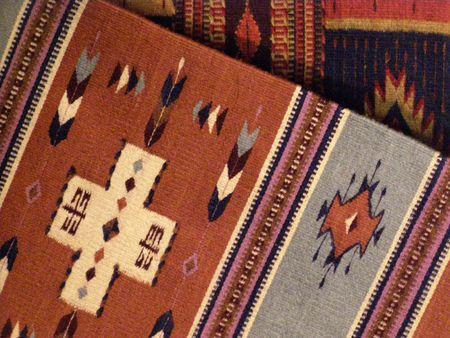 indigenas americanos: Mantas de Navajo Foto de archivo