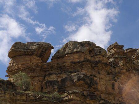 red sedementary rocks,Utah desert