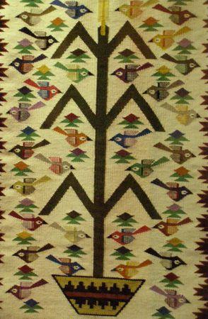 Navaho Tree of Life rug Banco de Imagens - 945959