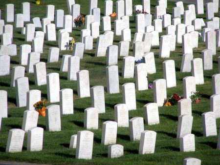 wwii: graves of WWII veterans