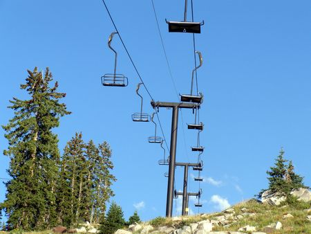 ski lift: ski lift in summer
