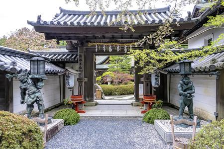 Entrance in traditional Japanese ryokan, Japan