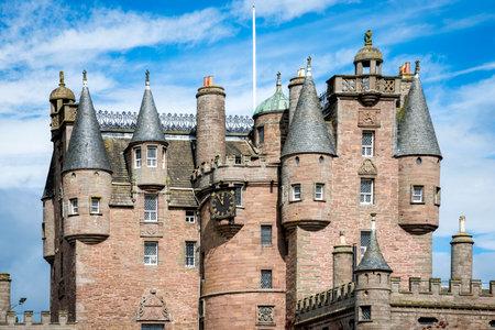 macbeth: View of Glamis Castle architectural details, Scotland