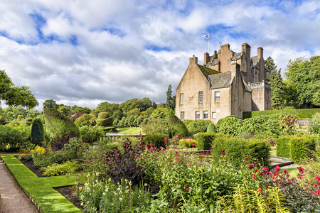 Banchory, United Kingdom - August 18, 2014: View of 16th-century Crathes Castle. The castle and grounds are presently owned and managed by the National Trust for Scotland and are open to the public Editorial