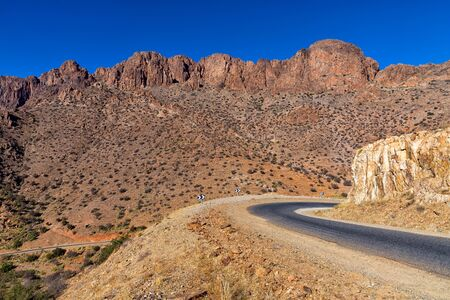 Scenery along the R105 near Tafraout in Morocco.