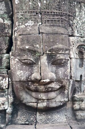 siem: Cambodia Siem Reap Angkor Wat Bayon Temples and Statues  Stock Photo