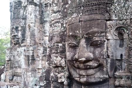 mekong: Cambodia Siem Reap Angkor Wat Bayon Temples and Statues  Stock Photo