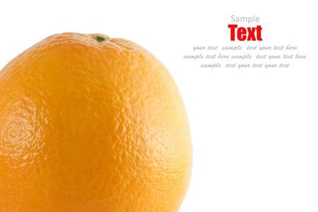 orange isolated on white Stock Photo - 8622632