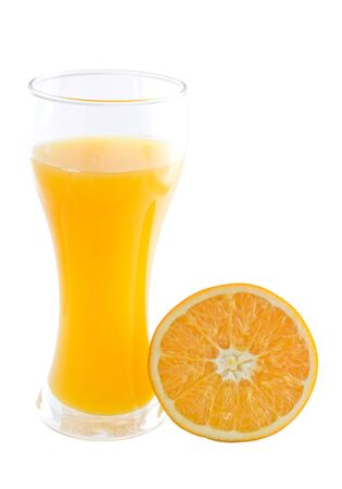 orange juice isolated on white  photo