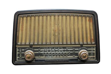 radio Vintage isolée sur un fond blanc  Banque d'images
