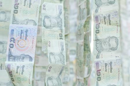 money background / money stack / thai bath  Stock Photo - 8622670
