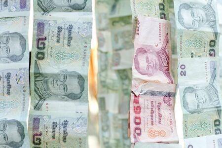money background  money stack  thai bath  photo