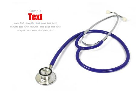 Doctor's stethoscope on a white background with space for text Stock Photo - 8622586